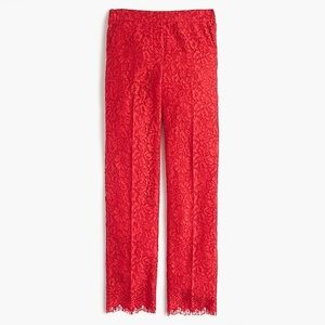 J. Crew Red Lace Pants